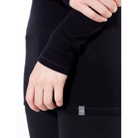 Icebreaker Luxe Rib LS V Shirt Dam black
